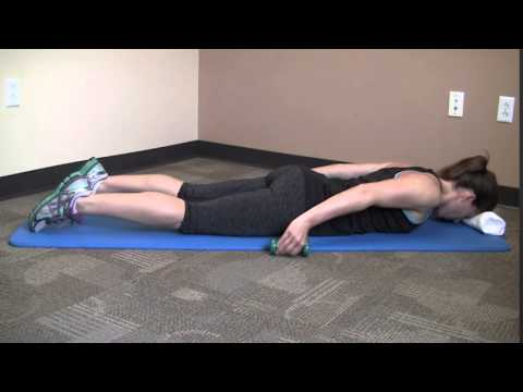 Prone Shoulder Extension With Dumbbells