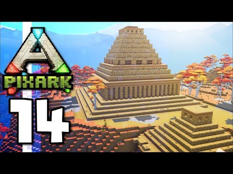 PixARK ▫ Golden Pyramid, Castle Towers & Hippocampus Tame! (Ep.14)