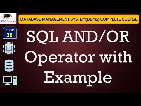SQL AND/OR Operator with Example in Oracle 11g Database