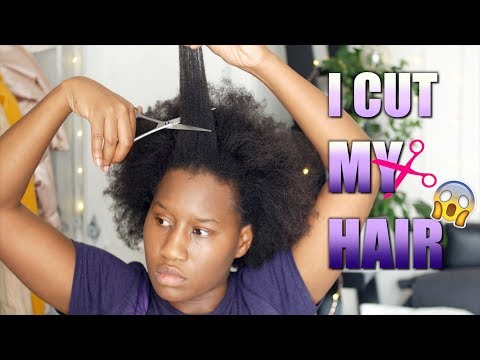 I CUT MY HAIR! Getting rid of Split ends, thinning, dryness, tangling