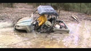 Kawasaki Teryx: 6 Year Old Tries His 1st Big Mud Hole