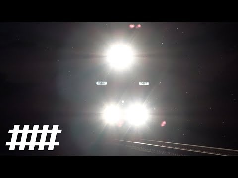 NS Trains at Port Royal, PA With PRR Signals PT 151.1 at Night on the Pittsburgh Line
