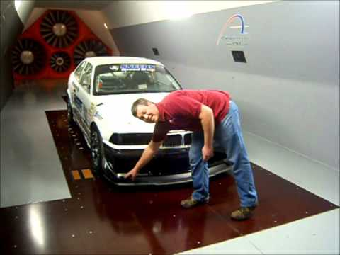Sneed4Speed BMW E36 M3 Wind Tunnel test of Sneed4Speed wing and splitter