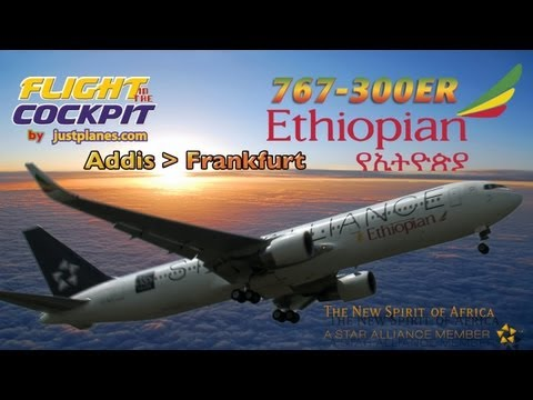 BOEING 767-300 Cockpit to FRANKFURT