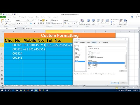 Tricks for Custom Number Format in Excel (Must watch)