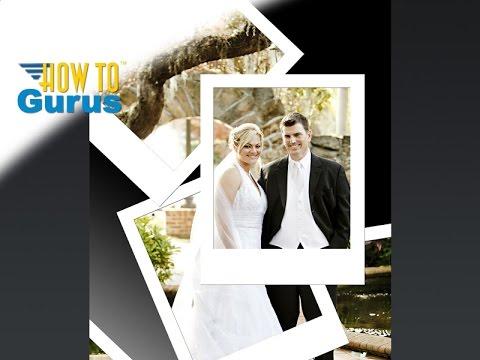 Photoshop Wedding Photo Editing : How to do a Stacked Polaroid Effect CS5 CS6 CC 2018 Tutorial