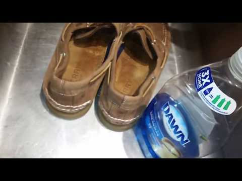 Decided To Give My Sperry TopSiders Boat Shoes The Weathered Look Using Dawn Dishwashing Liquid Soap