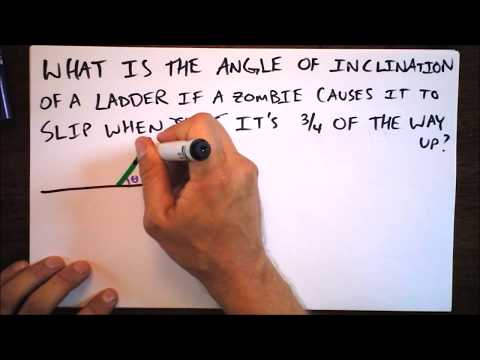 Zombie on a Ladder of Unknown Angle Worked Example   Static Equilibrium   Doc Physics