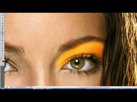How to apply eyes shadow using Photoshop