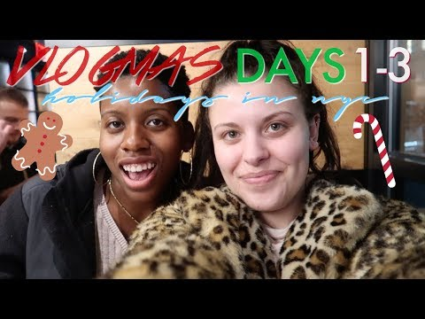 MEETING OLD FRIENDS IN NYC & UNLIMITED FOOD | Vlogmas Days 1-3