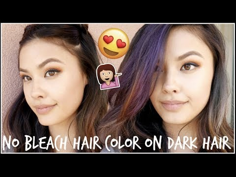 MY TEMPORARY HAIR COLOR! First Impressions Hush Prism Airbrush Spray Hair Color Review