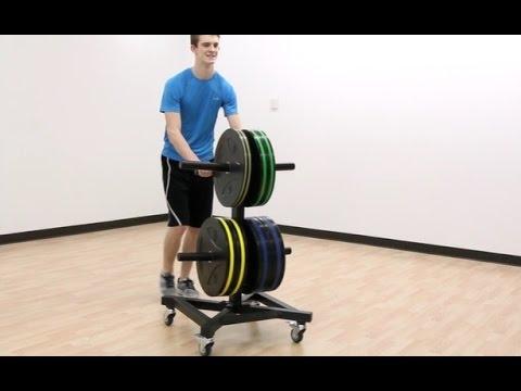IronRange™ Rolling Plate Rack | Gopher Sport