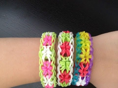 HOW TO MAKE A RAINBOW LOOM STARBURST BRACELET