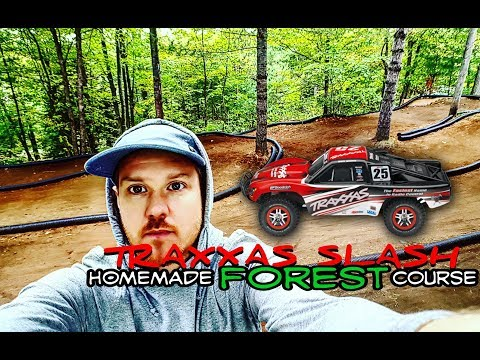 Traxxas Slash: Homemade RC full length forest track!