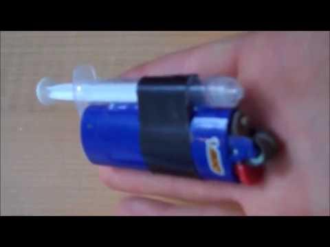 how to Make a Mini Flamethrower   EASY