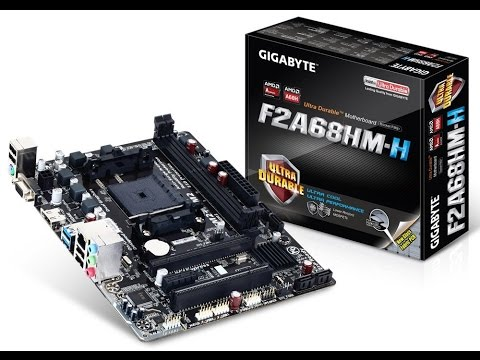 Gigabyte F2A68HM H Motherboard Unboxing