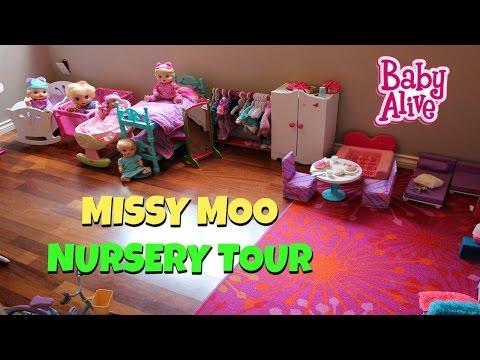 Baby Alive Doll Nursery Tour 2017 / Missy Moo