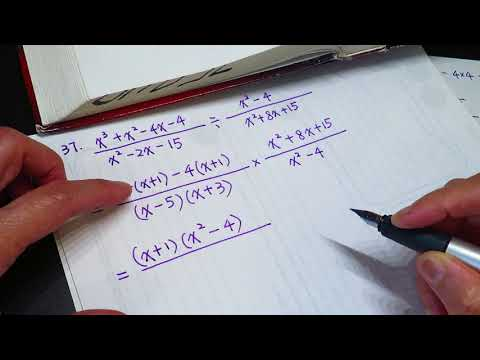High school math - computing polynomial of complex fraction asmr?