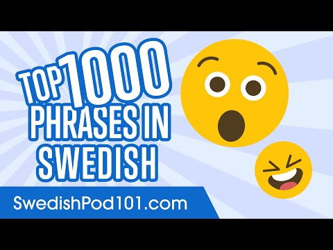 Top 1000 Most Useful Phrases in Swedish