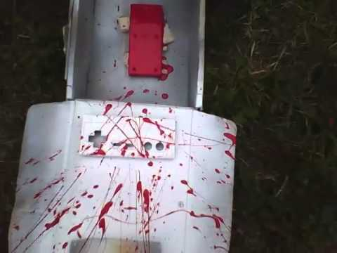 Guide in spray painting a controller #6: put in a little bit of blood splash