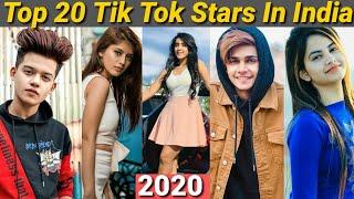 Top 20 Tik Tok Stars In India   No.1   Arishfa   Lucky Dancer   Riyaz   Jannat Mr Faisu   Gima Ashi