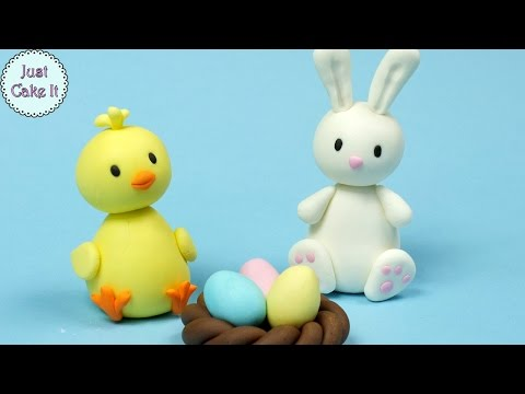 3 Easy Easter Fondant Cake Toppers! Cake decorating for begginers
