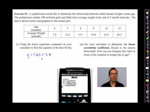 Common Core Algebra II.Unit 13.Lesson 11.Linear Regression and Lines of Best Fit