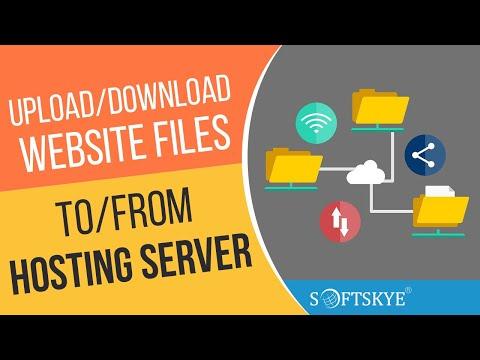 FTP to Upload Download Website Files From Server / Hosting