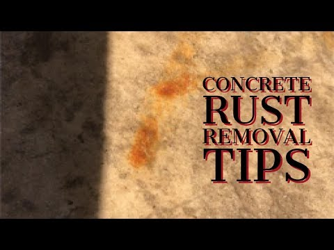 How to remove rust from stamped concrete (CLEANING TIPS)
