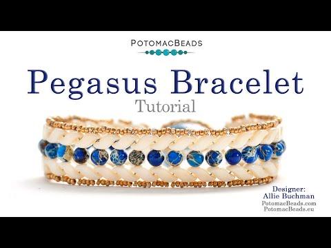 Pegasus Bracelet (Herringbone stitch with 2-hole StormDuo beads)
