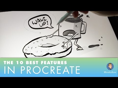 Procreate's 10 Best Features (draw straight lines, paint bucket tool, gradients and more)