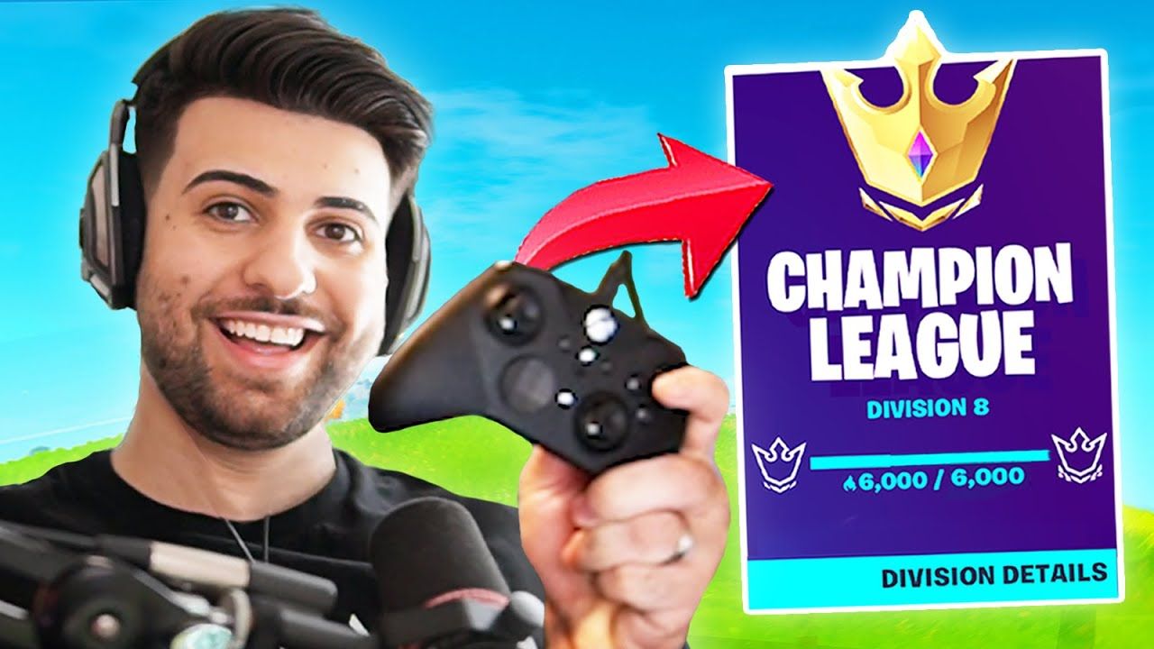 I Switched To CONTROLLER And Got To Champions League! - Part 1 - Fortnite Battle Royale
