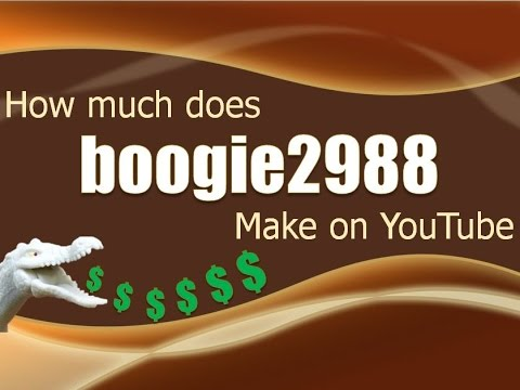 How much money does boogie2988 make on YouTube 2014
