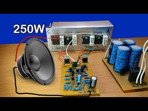 How to make 250W amplifier circuit by transistor D718 and B688 at home