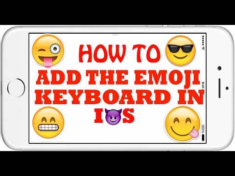 How To Add The Emoji Emoticon Keyboard in IOS