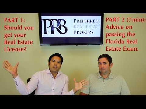 Advice on passing the Florida Real Estate Exam, and the reasons you should or shouldn't do it