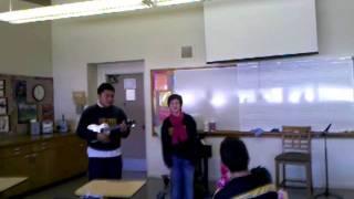 Me singing Valentine to my Boyfriend