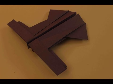 How to make a cool paper plane origami: instruction| The modern Flyer
