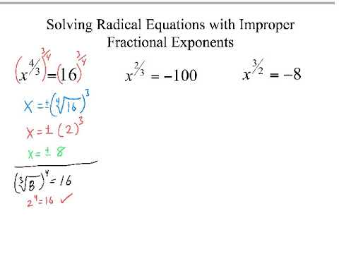 Solving Equations with Improper Fractional Exponents
