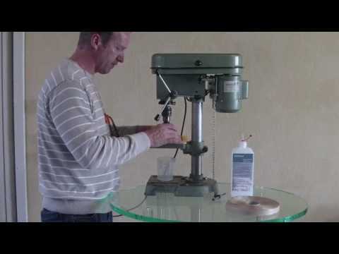 How to drill acrylic round hole with mill drill * Rundloch-Fräsbohrer