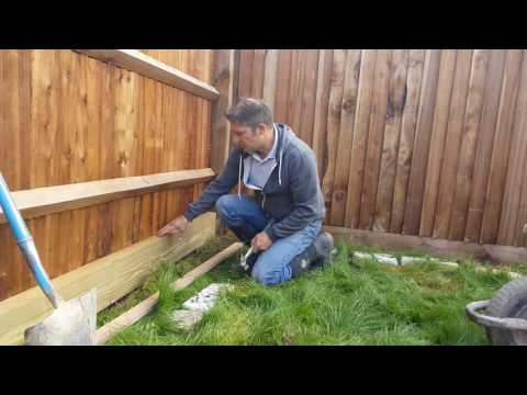 How to Build A Wooden Sleeper Raised Bed - Part 1