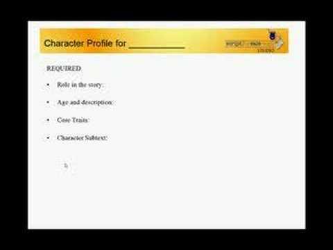 Screenwriting: Great Character Profiles -- Part 1