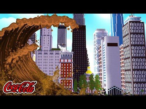 COCA COLA TSUNAMI VS CITY CHALLENGE! w/TinyTurtle