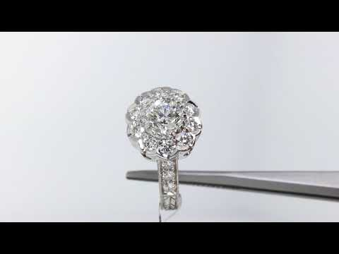 How A Diamond Cluster Can Make Your Diamond Engagement Ring Look Bigger!