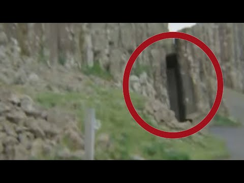 Secret Doorway In Giants Causway Northern Ireland Caught On Mobile Camera