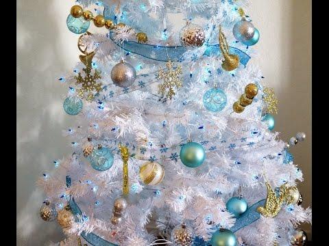 HOW I DECORATE MY CHRISTMAS TREE| WINTER WONDERLAND THEME