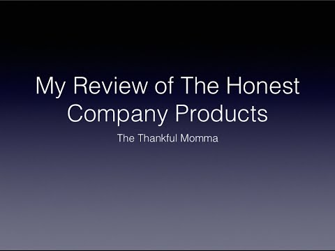 What Products I have used from The Honest Company