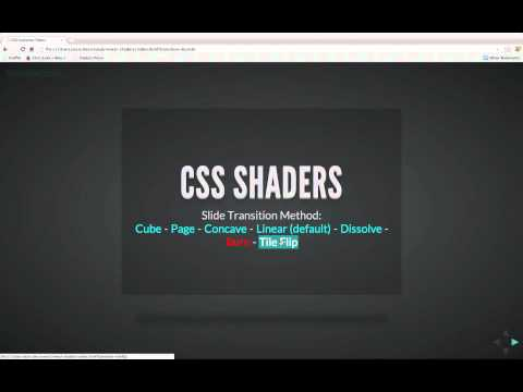 Reveal.js & CSS Custom Shaders