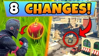 Fortnite Update: 8 SECRET CHANGES! - New APPLES Item, Tilted Towers Change (Battle Royale New Gun)