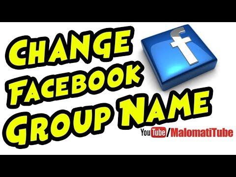 How to Change Facebook Group Name 2017 in Urdu & Hindi | Change Facebook Group Name by MalomatiTube